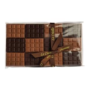 Mini tablettes chocolat lait/noir